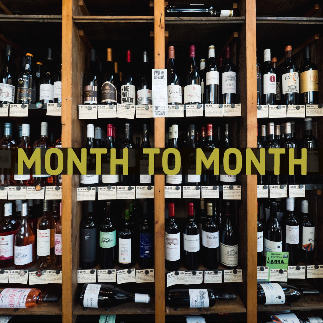 Month to Month Wall of 100 Wine Club