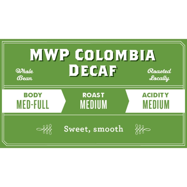 Decaf Colombia Mountain Water Process