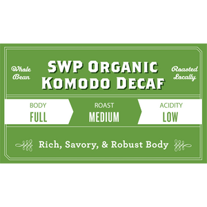 Komodo Organic Swiss Water Process Decaf