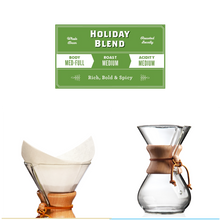 Load image into Gallery viewer, Holiday Bundle - Chemex, Holiday Blend & Filters