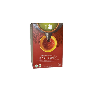 Rishi Tea Organic Earl Grey 15ct Sachets 2 Pack