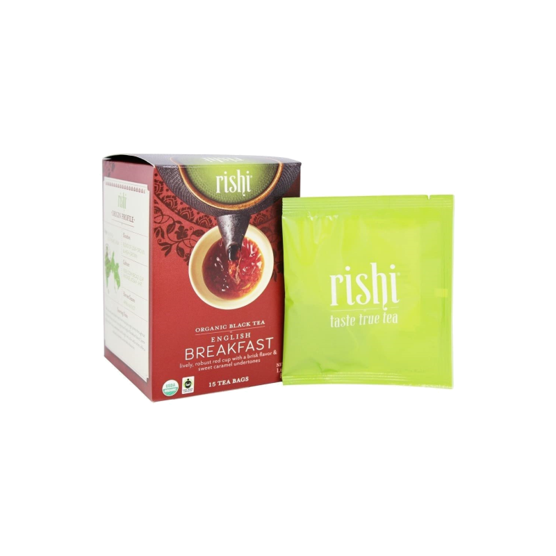 Rishi Tea Organic English Breakfast 15ct Sachets 2 Pack