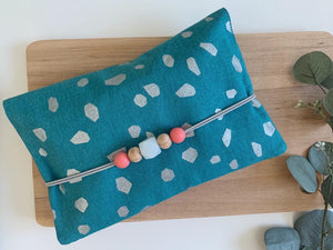 Spring Metallic Turquoise Essential Pouch