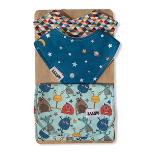 Galactic Pals Double Bib Set