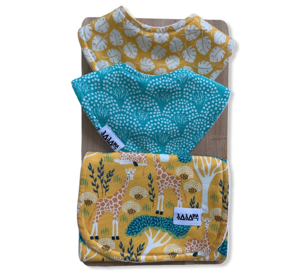 Wild Life Double Bib Set (Full Organic)