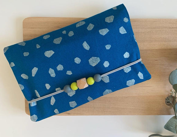 Summer Metallic Blue Essential Pouch