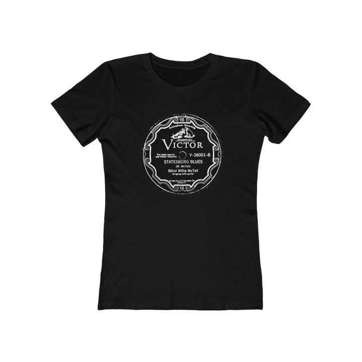 Blind Willie McTell Authentic 78 RPM Label Womens T Shirt Tee
