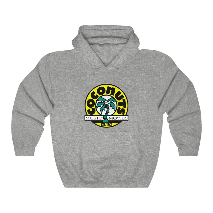 Coconuts Music & Movies Est 1972  Unisex Hoodie Record Shop