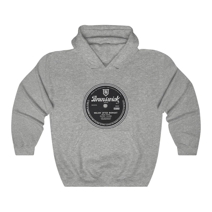 Patsy Cline Walkin' After Midnight Brunswick Record Label 78 RPM Country VinylUnisex Hoodie