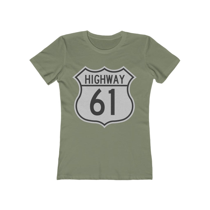 Highway 61 Women's T Shirt Tee Blues Crossroads