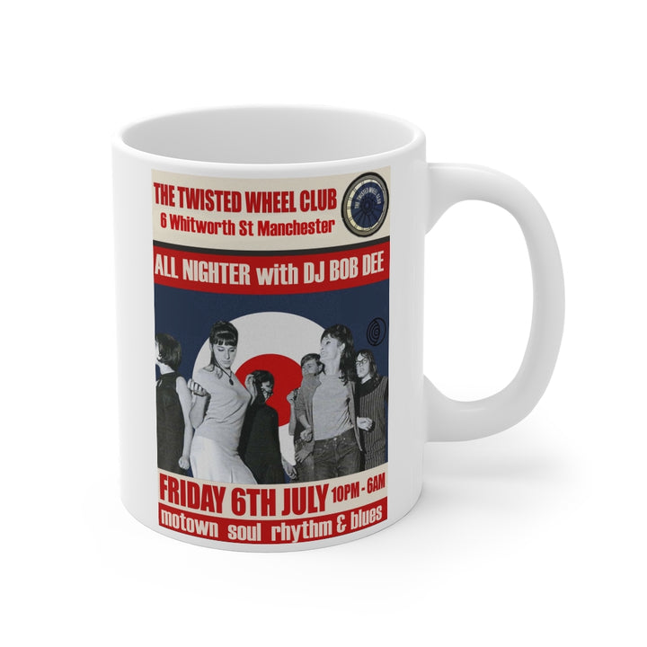 Twisted Wheel Northern Soul Retro Style Flyer Ad Coffee Mug White