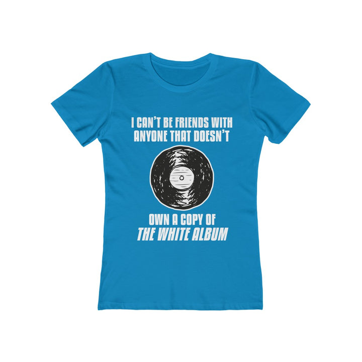 Beatles White Album Record Collector Women's T Shirt Tee