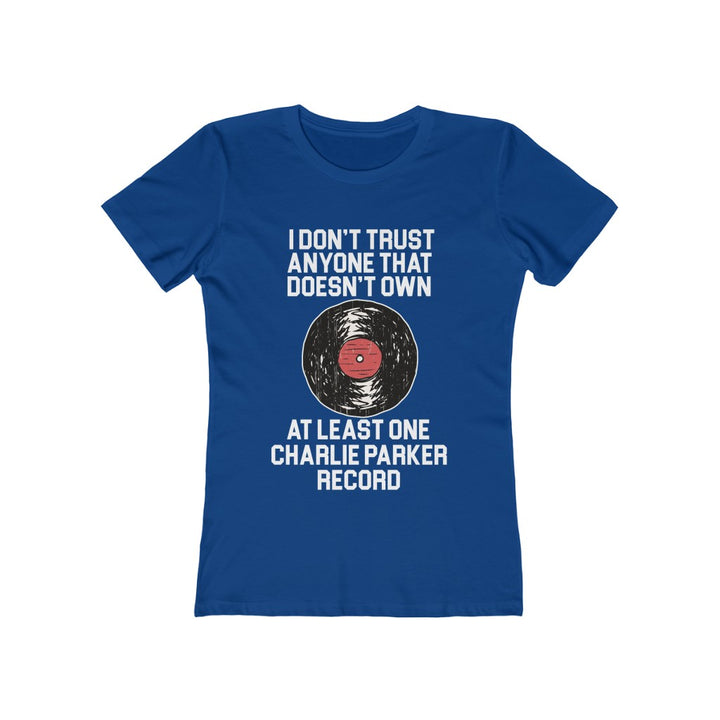 Charlie Parker Record Collector Women's T Shirt Tee