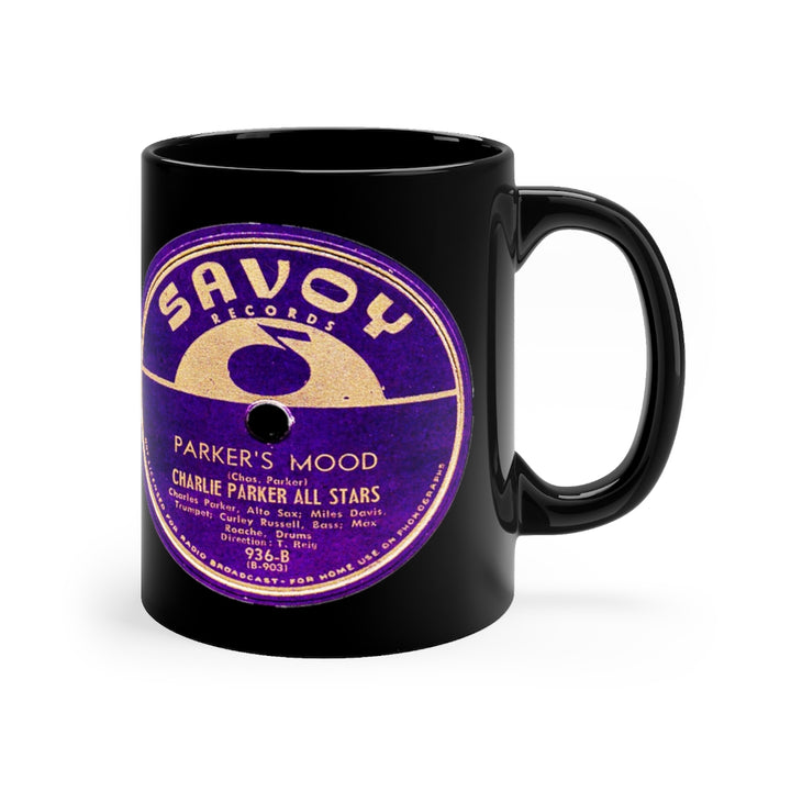 Charlie Parker 78 RPM Savoy Label Black Coffee Mug 11oz Jazz