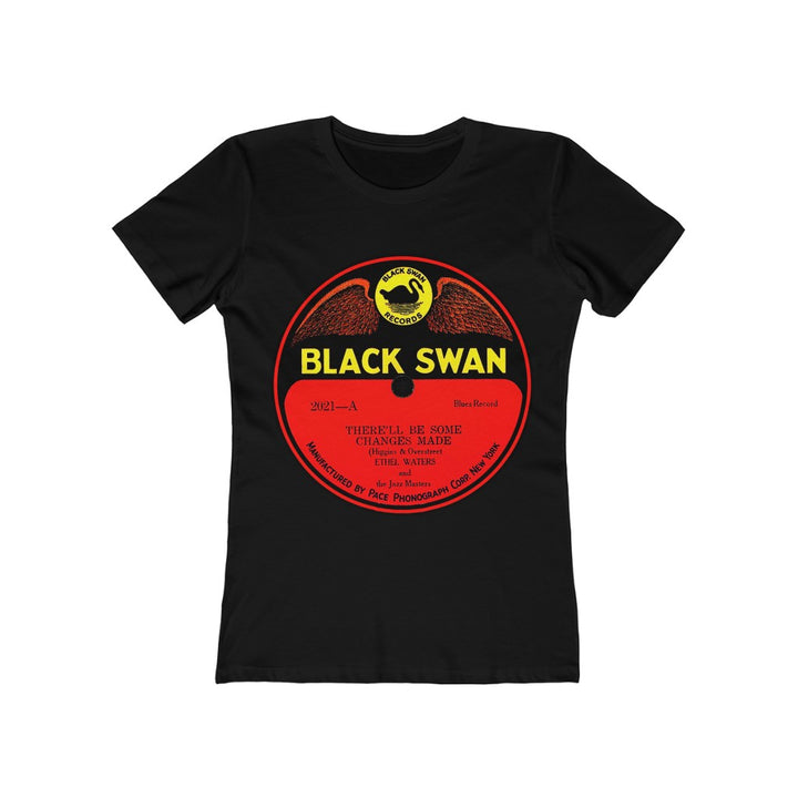 Black Swan Records First Black Owned Record Label 78 RPM Women's T Shirt Tee