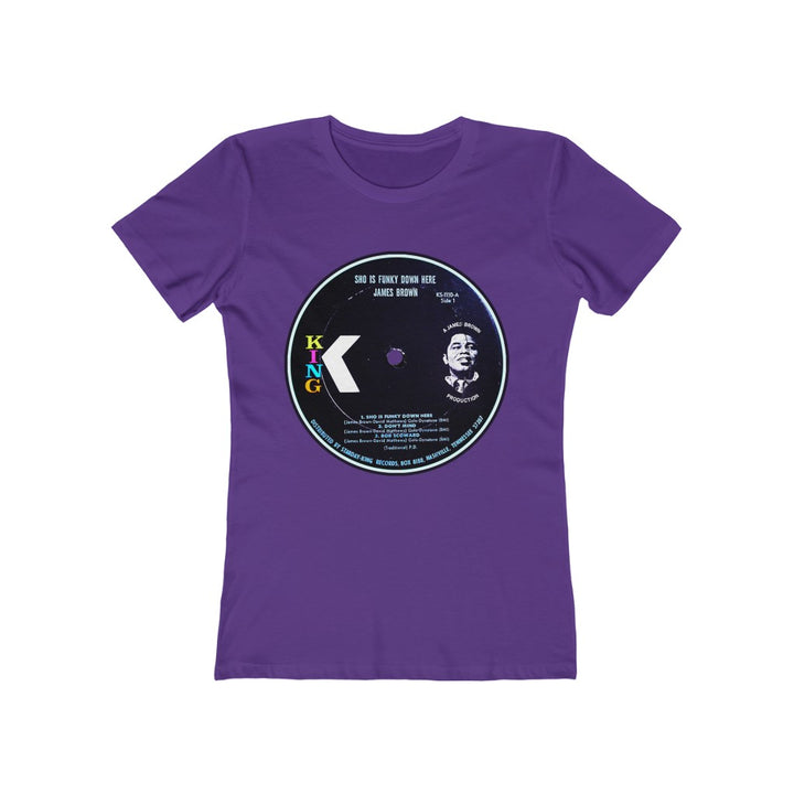 James Brown Sho Is Funky Down Here King Record Label Soul Funk Vinyl Women's T Shirt Tee