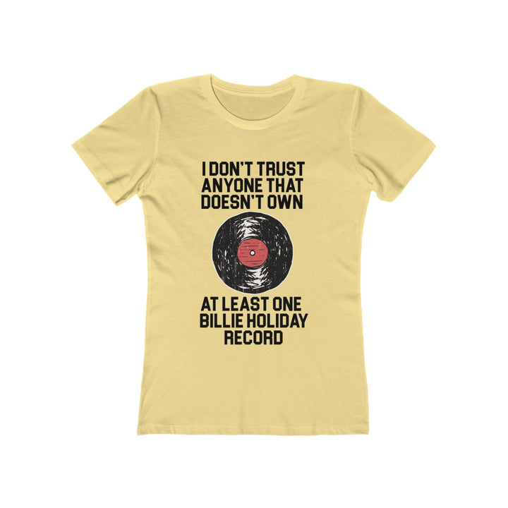 Billie Holiday Jazz Record Collector Women's T Shirt Tee