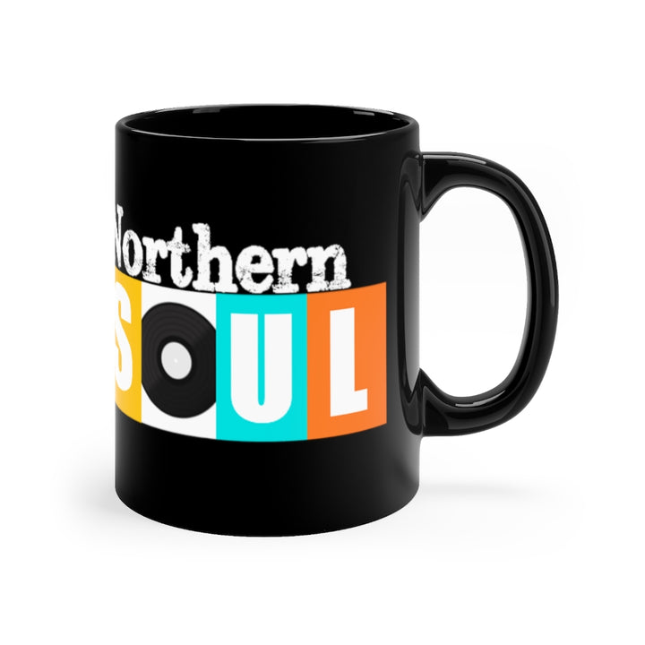 Northern Soul Vintage Retro Design Label Black Coffee Mug 11oz