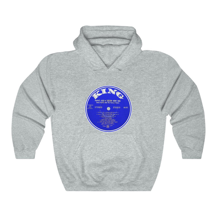 James Brown Papa's Got A Brand New Bag King Record Label Vinyl Unisex Hoodie
