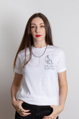 Saint Sister Shape of Silence White T Shirt