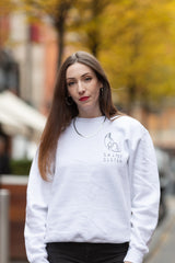 Saint Sister White Shape of Silence Sweatshirt