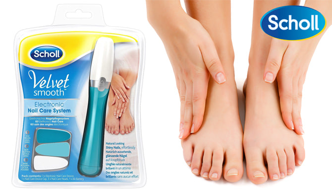 Scholl Velvet Smooth Electronic Nail Care Kit Device Nail File ...