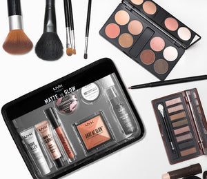 NYX Face Makeup Travel Set | Jet Set Matte vs Glow
