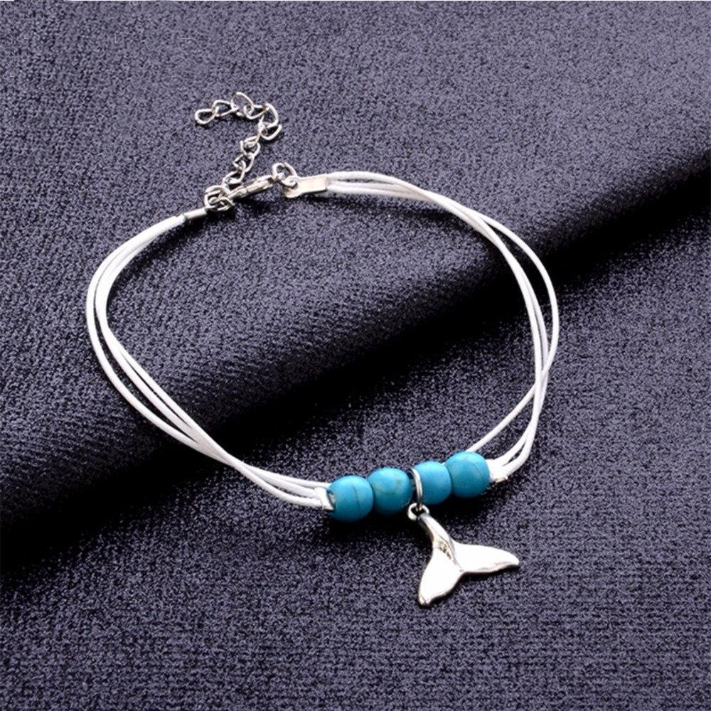 Dolphin Tail Pendant Anklet