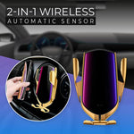 Wireless 2-in-1 Automatic Sensor  Car Charger