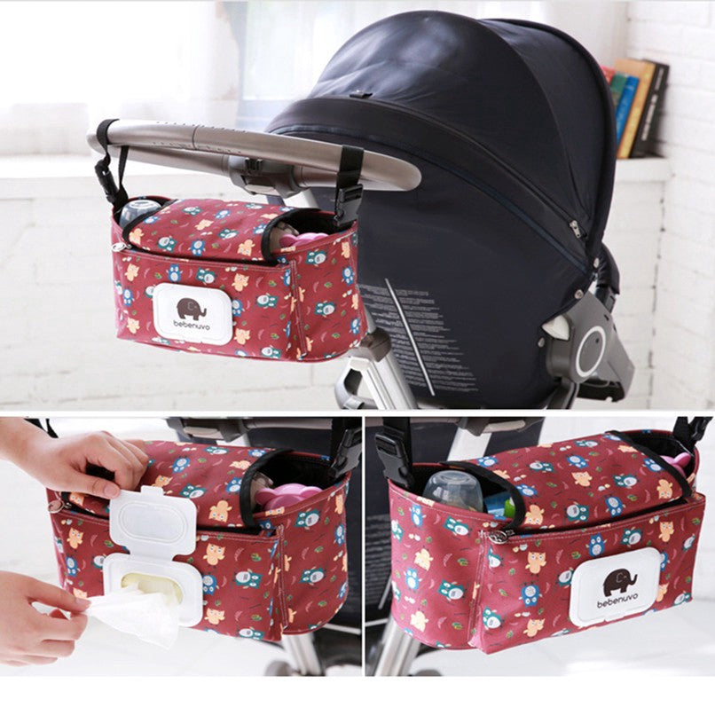 Baby Stroller Pram Pushchair Organizer Mummy Bag Nappy Diaper Storage Hanging