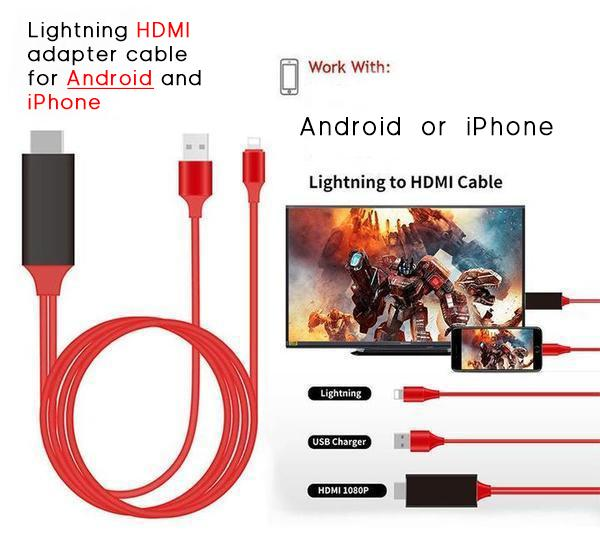 IPhone And Android Screen To TV Cable