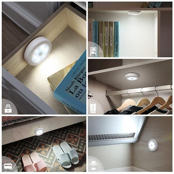 Motion Sensor Light, Cordless Battery-Powered LED Night Light