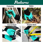 Garden Genie Gloves For Digging&Planting with 4 ABS Plastic Claws Gardening