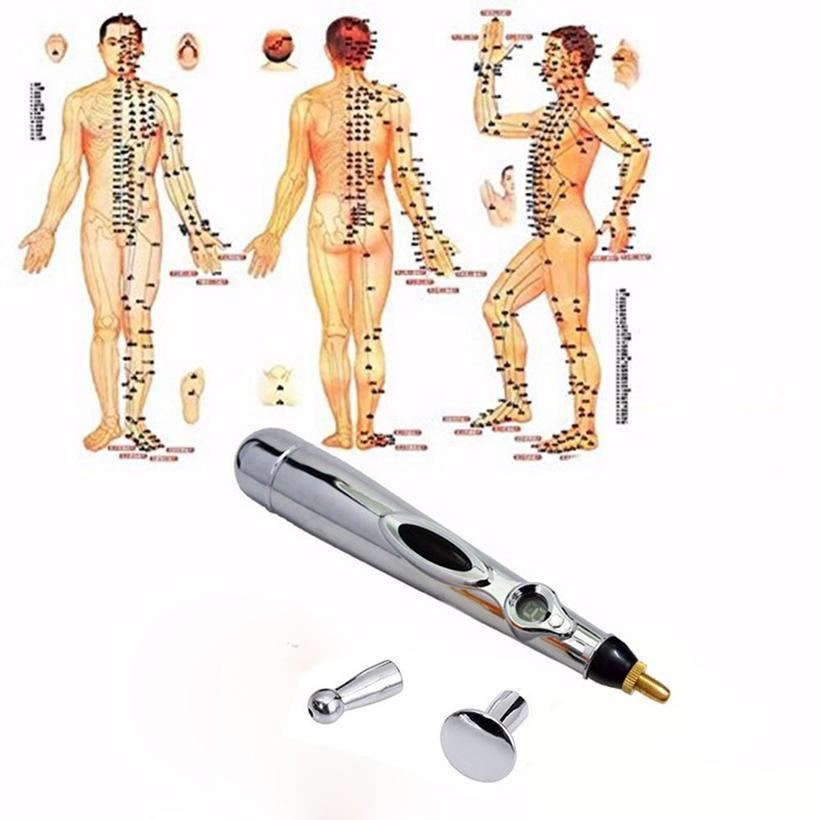 Portable Monitor Electric Meridians Laser Acupuncture Magnet Therapy Instrument Heal Massage Meridian Massager Energy Pen