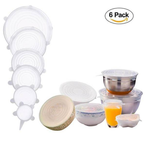 Stretch & Fit - New Silicone Stretch Lids (6pcs)