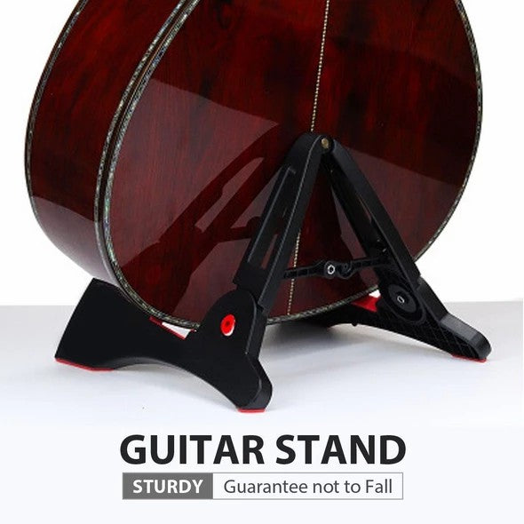 Folding A-Frame Electric Acoustic Bass Guitar Floor Stand Holder