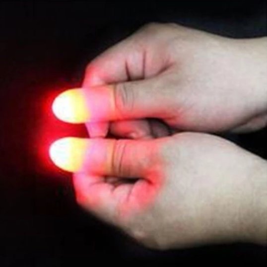 Magic Makers Red Light Up Thumb Tips