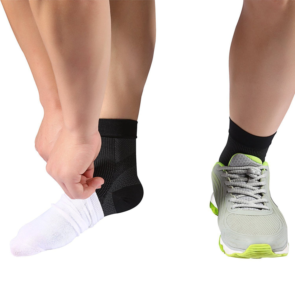 A Pair of Anti-fatigue Compression Socks