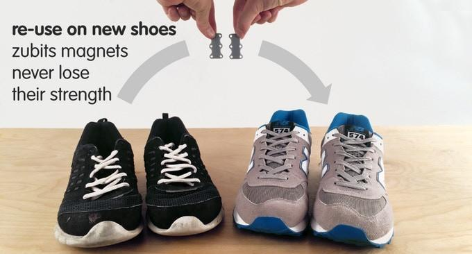 Magnetic Lacing , Never Tie Laces Again