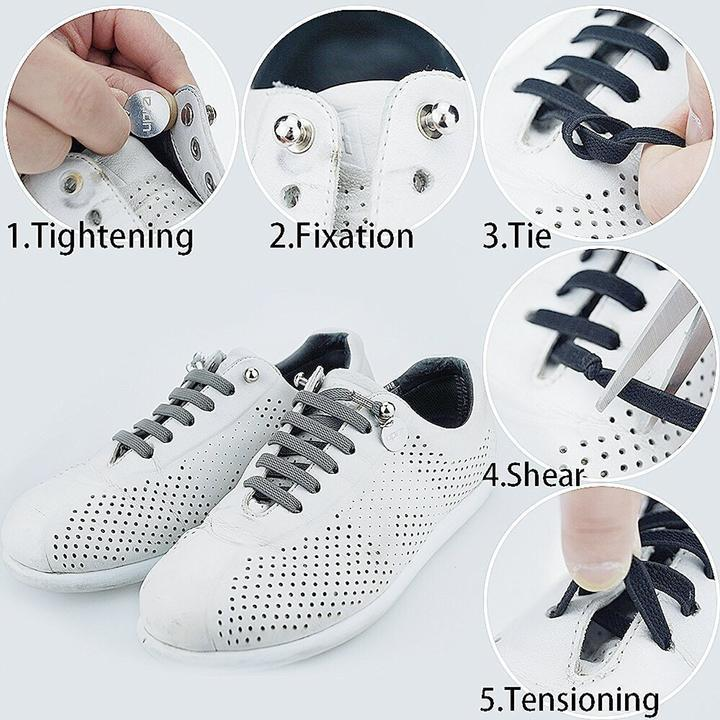 A Pair Of Elastic One Hand No-Tie Shoelaces