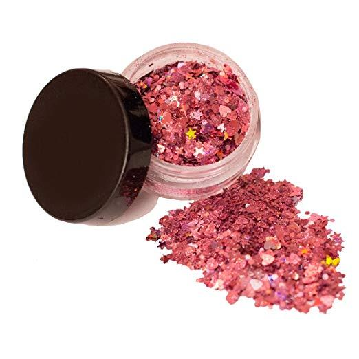 Pink Mix Glitter Chunky Multi Purpose Dust Powder Arts