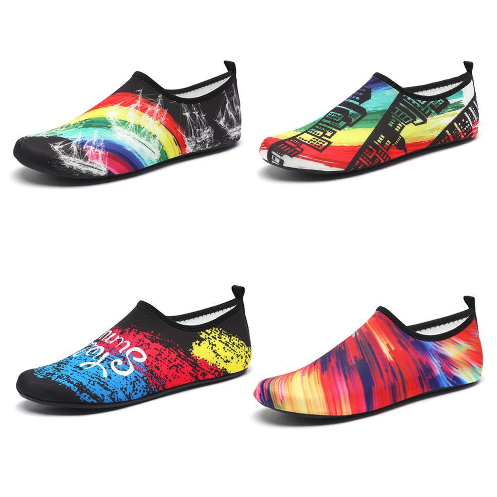 Rainbow Water Shoes Barefoot Quick-Dry Aqua Socks for Beach Swim Surf Yoga Exercise