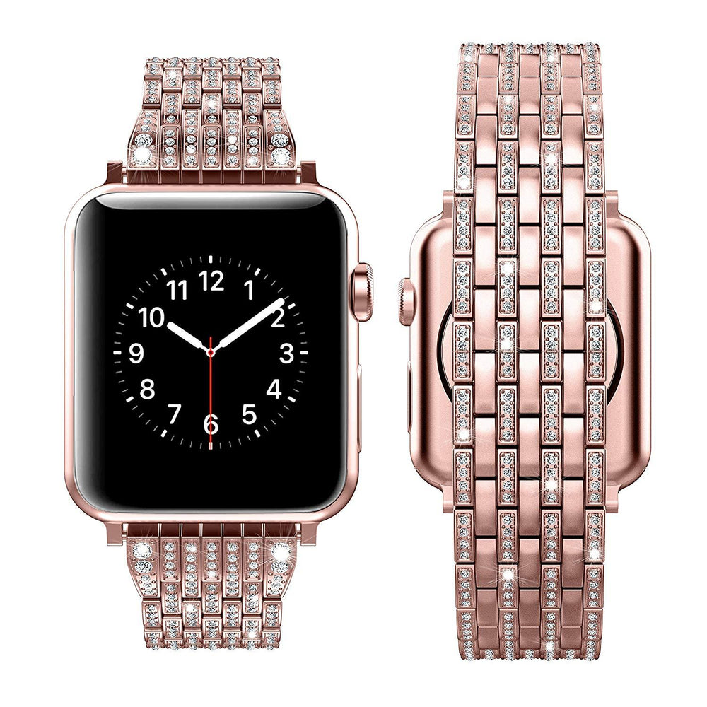 Luxury Crystal Metal Wristband For Apple watch