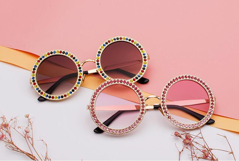 Metallic Diamond Embedded Fashionable Sunglasses