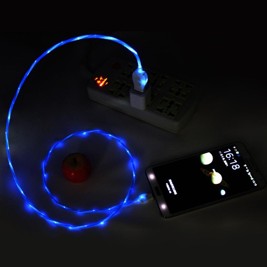 Cool LED  Light Flow Micro USB Cable