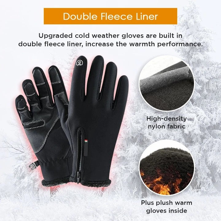 Mens Winter Outdoor Waterproof Touch Screen Gloves