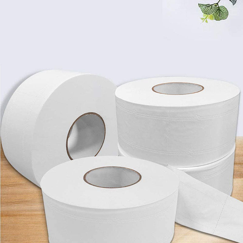 4 Ply Jumbo Roll Toilet Paper,1 Big Roll Super Soft Bath Tissue Natural Household Toilet Paper Roll