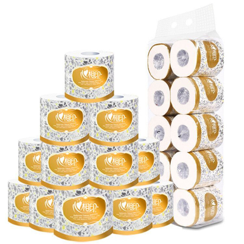 10 Rolls Bulk Bathroom Toilet Paper 3 Layer of Thick White Toilet Tissue for Home Kitchen Sanitary Paper Soft Rolling Paper