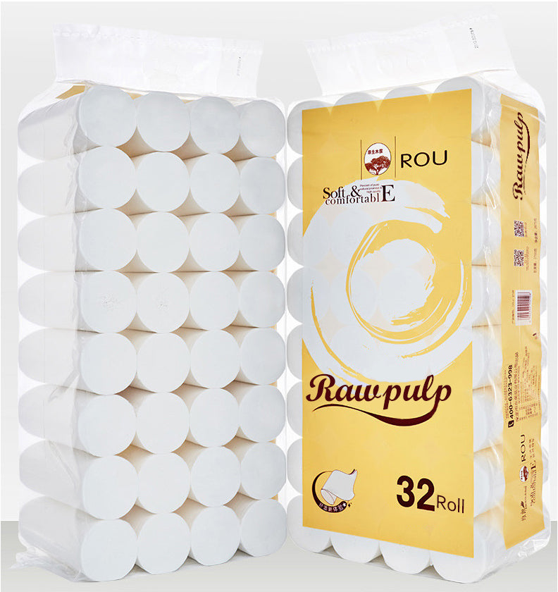 24-hour Fast Shipment in the US 32 Rolls Toilet Paper 4-layer Comfortable Home Bathroom Toilet Paper