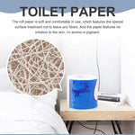 24-hour Fast Shipment in the US 10 Rolls Toilet Paper Kitchen Paper 4-Layer Native Wood Soft Toilet Paper Pulp Home Rolling Paper Strong Water Absorption